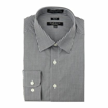 Gingham Dress Shirt Cheeker Slim Fit Dress Black Shirt