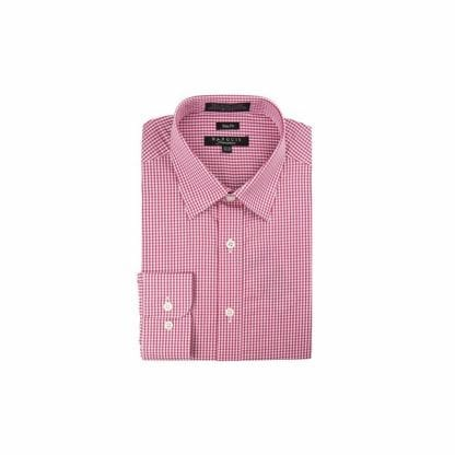 Gingham Dress Shirt Cheeker Slim Fit Dress Magenta Shit