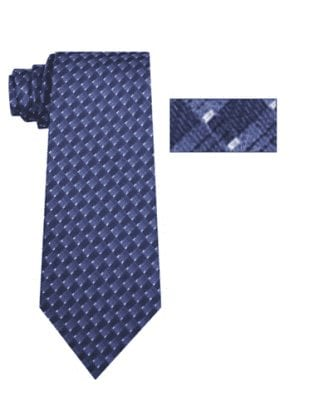 Mens Light Blue Pattern Skinny Necktie with Matching Pocket Square
