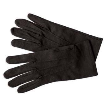 MENS Formal Gloves BLACK Nylon Stretch Fabric Gloves