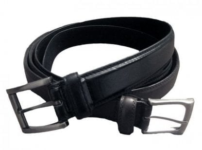 Mens Leather Black Belt in All Sizes