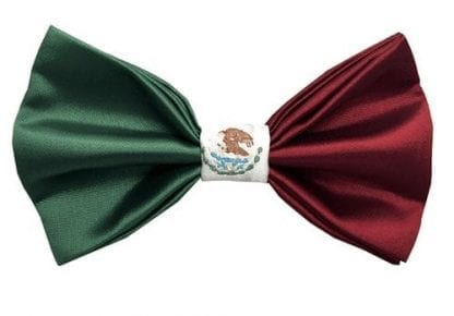 Mens Mexico Flag Inspired Bowtie