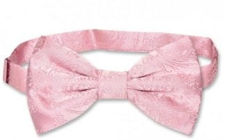 Mens Paisley Satin Self tie Bowtie All Colors-Weddings- Prom- Holiday