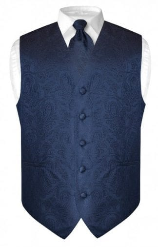 Mens Paisley Tone On Tone Rose Gold Vest with Tie Set
