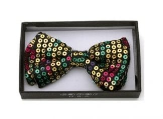Sequin Bow Tie Rainbow