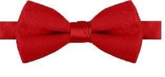 Red Poplin Not Shinny Bow Tie