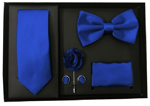 Gift Box Mens Tie set with hankerchif and cufflinks matching party wedding