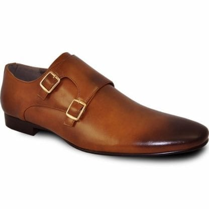 Cognac Brown Slip On Shoe Buckle Shoe