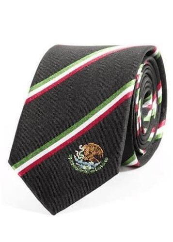 Mexico Flag Inspired Self tie Mens Necktie- Corbata para hombre inspirada por la bandera de México