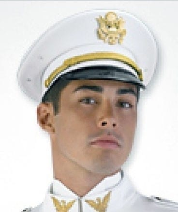Military Cadet Hat in White