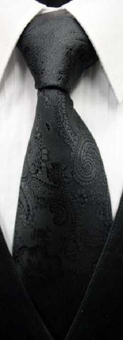 Paisley Necktie All Colors Mens Self Tie Long Tie