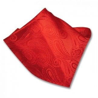 Paisley Brown Pattern Satin Pocket Square