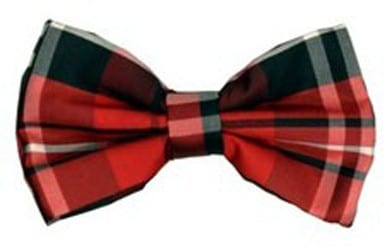 Red Plaid Christmas Red Bow Tie Pre Tied