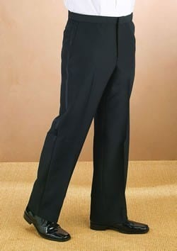 Tuxedo Trousers Black all Wool Non Pleated Non-Adjustable Pants