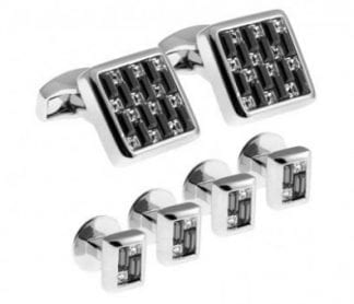 Tateossian High End Cuff Links Studs Square