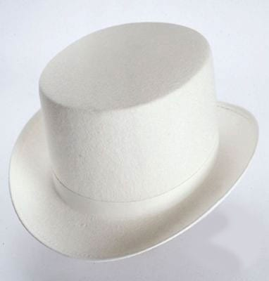 Top Hat White Costume Top Hat