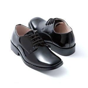 Boys Tuxedo Shoes BLACK Square Toe