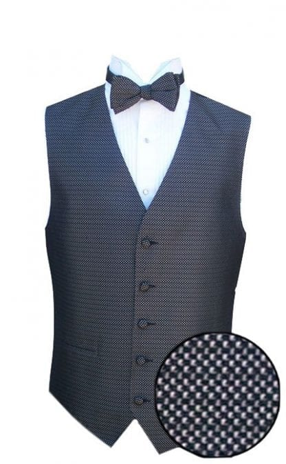 Tuxedo Vest Charcoal Infinity Square Silk Vest Only CLOSEOUT