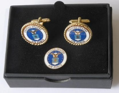 US Air Force Cuff Links and Lapel Pin Tie Tack