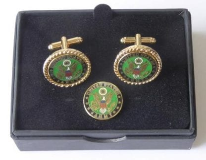 US Army Cuff Links and Lapel Pin Tie Tack