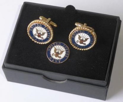 US Navy Cuff Links and Lapel Pin Tie Tack