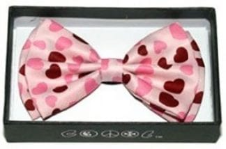 Mens Black and White Polka Dot Bowtie