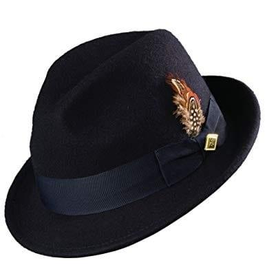 Wool Felt Fedora Jazz Hat Stacy Adams